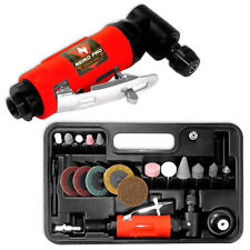 "1/4"" Mini Air Angle Die Grinder With Accessories Cutting Cut Off Tool KIt Set"