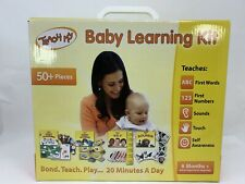 Teach My Baby Learning Kit First Words Numbers Self Sounds & Touch Flashcards