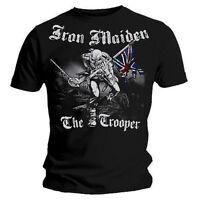 Iron Maiden T Shirt Vintage Sketched Trooper Eddie Official Black Mens Tee Metal