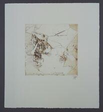 Horst Janssen Selbstbildnis Gruß der Griffelkunst Radierung 1980 handsigniert