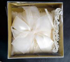 Beverly Clark Collection Ivory Wedding Ring Bearer Pillow + FREE Garter, NEW