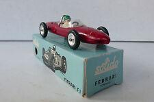 SOLIDO SÉRIE 100   FERRARI F.1   R.122  1962   BON ÉTAT    BOITE D'ORIGINE BLEUE