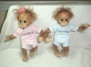 Ashton & Drake Double Trouble Twin Monkeys-Orangutan - poseable