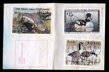 Illinois 1998 Sportsman's Comb Hunting + Fish License Rw65 + State Duck - 671