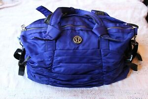 Lululemon Blue Destined for Greatness Ruched Duffle Gym Bag
