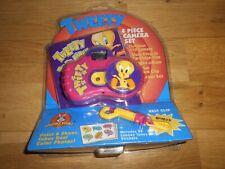 More details for looney tunes tweety bird 4 piece camera set & photo album & stickers, clip new