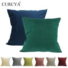 CURCYA Velvet Cushion Covers Big Large Soft Waist Pillow Case British Home Decor