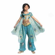 Disney Aladdin's Licensed Princess Jasmine Teal Deluxe Child Girls Costume Med