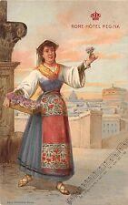 753) ROMA, HOTEL REGINA, COSTUME TRADIZIONALE. VIAGGIATA.