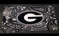 Georgia Bulldogs License Plate Metal Paisley G Tag UGA