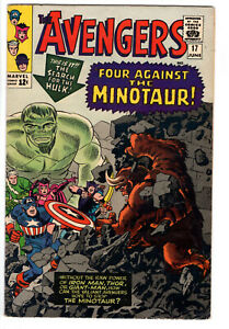 AVENGERS #17 (1965) - GRADE 6.0 - FOUR AGAINST THE MINOTAUR - HULK APPEARANCE!
