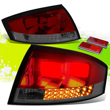 FOR 00-06 AUDI TT TYN 8N MK1 PQ34 SMOKED HOUSING RED LENS LED REAR TAIL LIGHTS