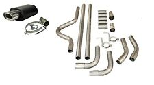 PEUGEOT SPORTS UNIVERSAL FULL CAT BACK EXHAUST BACK BOX SYSTEM PIPE KIT 002+2""