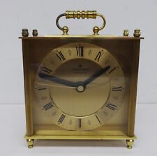 "Hochwertige elektromechanische Junghans Uhr "" Resonic "" Messing Tischuhr ~80er"