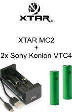 2x Sony Konion VTC4 Akku + XTAR MC2 Ladegerät für 18650 wie Pico 25 E-Zigarette