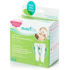 Evenflo  Advanced Milk Storage Bag Adapters, 2 Adapters