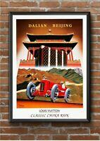 Vintage Louis Vuitton Motor Interest / Fashion Advertising Poster Print A3 A4 A5