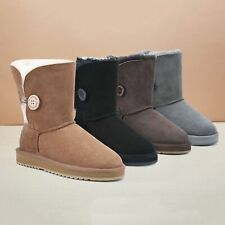【ON SALE】UGG Selected Short Button Boots Double Face Australian Sheepskin