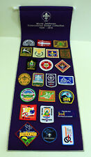 2015 World Scout Jamboree - 1920-2015 WSJ EMBROIDERED SCOUTS PATCH & PENNANT SET