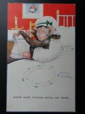 Comic: Lawson Wood MONKEY, SOME NICE THINGS GOING ON c1920's By Valentine No.905