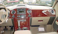 Fits Hummer H3 05-10 Interior Wood Pattern Dash Kit Trim Panels Parts