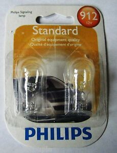 Stop Light Bulb-Standard - Twin Blister Pack 912 PHILIPS 912B2 #106