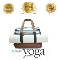 Travel Bag Luggage Large Duffel Gym Yoga Carry Bag With Real Leather Bottom