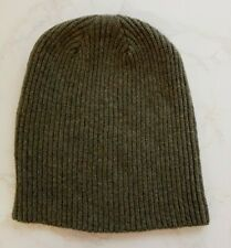 Made in Scotland Beautiful  100% CASHMERE   Beanie hat Camouflage Green