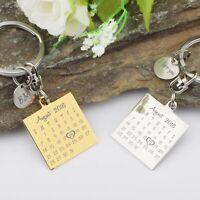 Custom Engraved /Personalized Key Ring Calendar KeyChain Graduation Gift