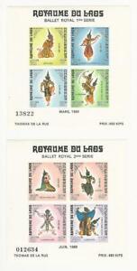 Laos, Postage Stamp, #C56a, C57a Mint NH, 1969 Ballet Royal, JFZ