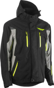 Fly Racing 2020 Snow Adult Incline Snowmobile Jacket Black/Grey All Sizes