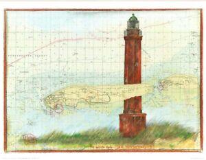 """Kunstdruck """"Leuchtturm Norderney"""" - von OLE WEST - (2037)"""