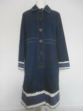 Boden Blue Occasion Long Cotton Coat Excellent Cond UK 18 ❤