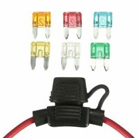 Auto Car 12V In-line Mini Blade Fuse Holder With 5 10 15 20 25 30A Fuses RK