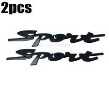 2pcs Black Sport Racing ABS Plastic Rear Emblem Badge Decal 3D Sticker