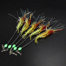 5x Soft Plastic Fishing Lures Tackle Prawn Shrimp Flathead Bream Cod Bass Lure