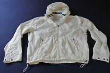 Scotch & Soda señores verano chaqueta cazadora Chaqueta lluvia talla XL blanco crema como nuevo