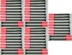 50 x Kabelbinder Kabelklett SO 16 cm x 16 mm neon rot Klettband Klettkabelbinder