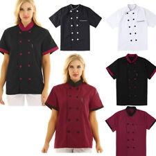 Us Chef Jacket Men Women Kitchen Short Sleeve Chef Coat Cook Working Uniform