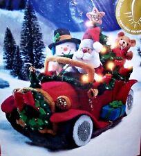 """Bucilla """"SANTA'S VINTAGE CAR"""" Felt Christmas Kit Lighted NEW VERY RARE 85329"""