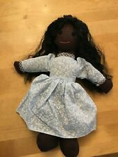 Handmade African American Brown Raggedy Ann Folk Doll Plush Toy