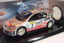 SOLIDO 1/18 PEUGEOT 206 WRC conducteur Gronholm & Rautiainen neuf dans sa boîte #2794