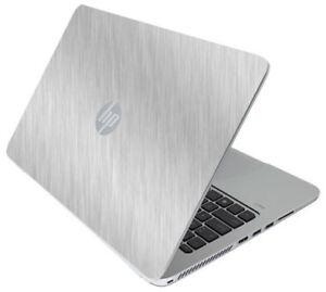 BRUSHED ALUMINUM Vinyl Lid Skin Cover fits HP Elitebook 850 G3 Laptop