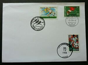 [SJ] Switzerland Brazil USA Joint Issue World Cup Football 1994 (Joint FDC)