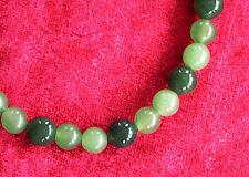 Jade-Halskette mit Hell- und Dunkelgrüner Jade mit Edelstahl-Magnetschloss