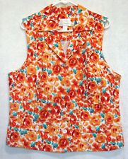 C.J.Banks Summer Sleeveless Floral Top Shirt Blouse Plus Size X - 14W