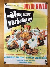 Alles was verboten ist (Kinoplakat '69) - David Niven / Lola Albright