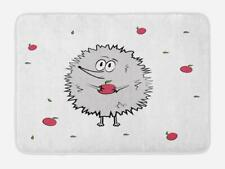"Woodland Hedgehog Bath Mat Bathroom Decor Plush Non-Slip Mat 29.5"" X 17.5"""