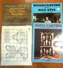 Lot of Wood Carving Books, Patterns, Templates, & Instructions Read Description