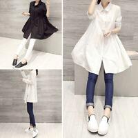 Womens Tops Long Sleeve Baggy Holiday Blouse T Shirt Shirt Dress Tunic Basic Tee